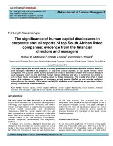 The significance of human capital disclosures in