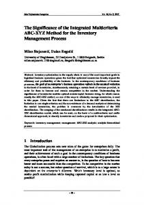The Significance of the Integrated Multicriteria ABC-XYZ Method for ...
