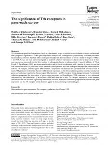 The significance of Trk receptors in pancreatic cancer - SAGE Journals