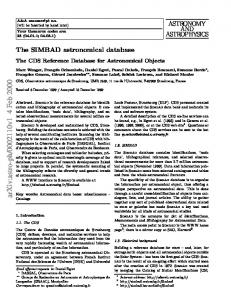 The SIMBAD astronomical database