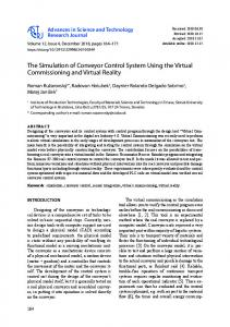 The Simulation of Conveyor Control System Using the Virtual