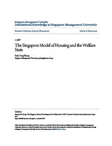 The Singapore Model of Housing and the Welfare State - CiteSeerX