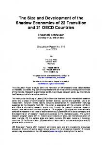 The Size and Development of the Shadow Economies ... - SSRN papers