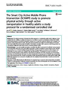 The Smart City Active Mobile Phone Intervention ... - BMC Public Health
