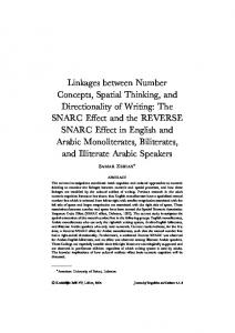 The SNARC Effect and the REVERSE SNARC Effect