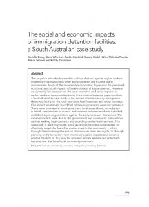 The social and economic impacts of immigration ... - Wiley Online Library