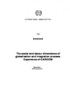 The social and labour dimensions of globalization and integration