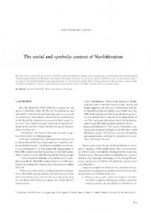 The social and symbolic context of Neolithization