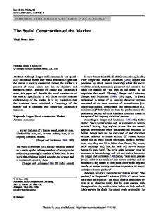 The Social Construction of the Market - SSRN