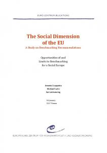 The Social Dimension of the EU - European Centre for Social Welfare ...