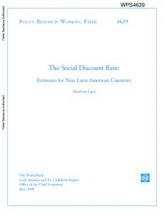 The Social Discount Rate - Open Knowledge Repository