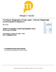 The Social Geography of Day Labor: Informal ...