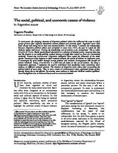 The social, political, and economic causes of violence ...