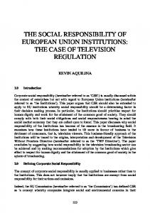The Social Responsibility of European Union Institutions