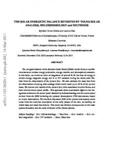 THE SOLAR ENERGETIC BALANCE REVISITED BY YOUNG SOLAR