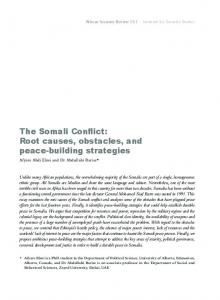 The Somali Conflict - ISS Africa