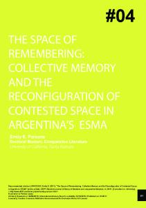 the space of remembering: collective memory and the ... - RACO