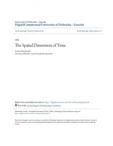 The Spatial Dimension of Time - Semantic Scholar