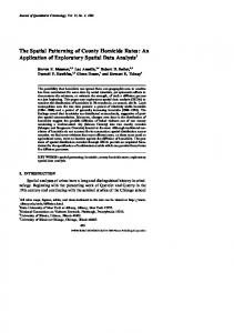 The Spatial Patterning of County Homicide Rates - Springer Link