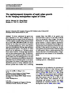 The spatiotemporal dynamics of rapid urban growth in the ... - CiteSeerX
