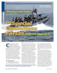 The Special Operations Forces