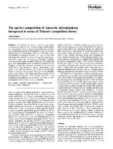 The species composition of Antarctic phytoplankton interpreted ... - Core