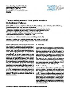 The spectral signature of cloud spatial structure ... - Atmos. Chem. Phys