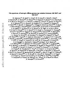 The spectrum of isotropic diffuse gamma-ray emission between 100 ...