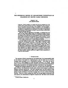 THE SPHERICAL MODEL OF LOGARITHMIC POTENTIALS AS ...
