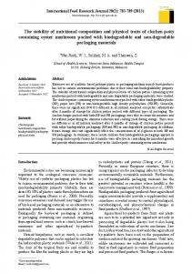 The stability of nutritional composition and physical traits of chicken