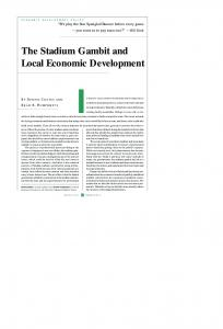 The Stadium Gambit and Local Economic Development