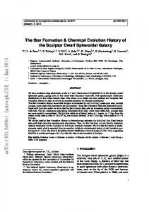 The Star Formation & Chemical Evolution History of the Sculptor Dwarf ...