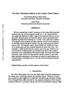 The Star Formation History of the Carina Dwarf Galaxy