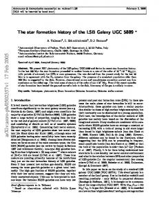 The star formation history of the LSB Galaxy UGC 5889