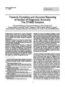 The STARD Initiative - Clinical Chemistry