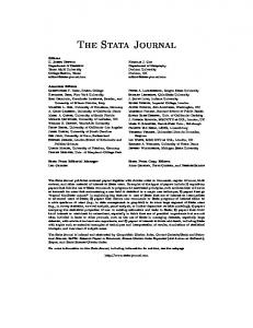 The Stata Journal - UCL Discovery