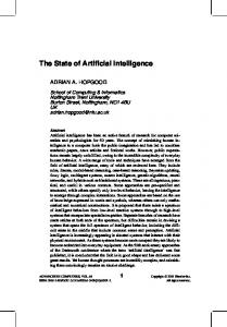 The State of Artificial Intelligence - Adrian Hopgood