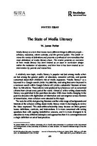 The State of Media Literacy