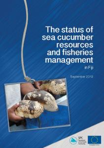 The status of sea cucumber resources and fisheries management in Fiji