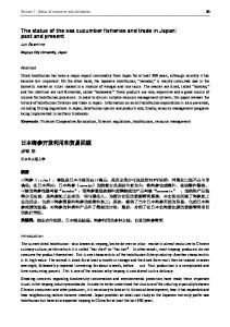 The status of the sea cucumber fisheries and trade in ...