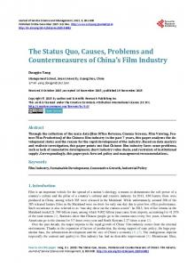 The Status Quo, Causes, Problems and