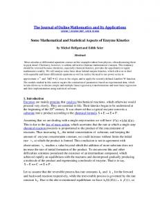 The Steady-State Model - Mathematical Association of America