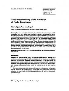 The Stereochemistry of the Reduction of Cyclic ... - Springer Link