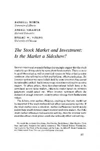 The Stock Market and Investment: Is the Market a ... - CiteSeerX