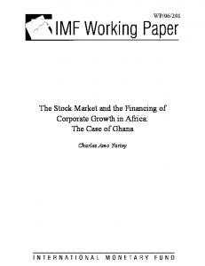 The Stock Market and the Financing of Corporate ... - SSRN papers
