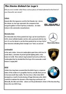 The Stories Behind Car Logo's - Constant Contact