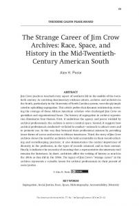 The Strange Career of Jim Crow Archives - The American Archivist
