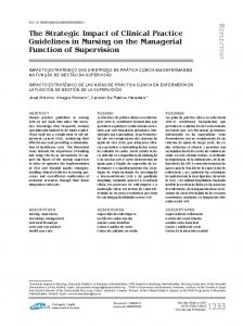 The Strategic Impact of Clinical Practice Guidelines in ... - SciELO