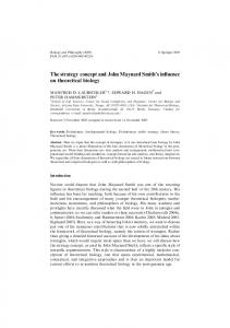 The strategy concept and John Maynard Smith's ... - WSU Vancouver