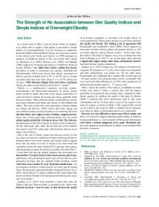 The Strength of No Association between Diet Quality Indices and ...